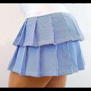 Faye & Florie Tennis Skirt Blue L Tier